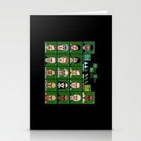 8 Bit Bad Guys Stationery Cards