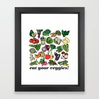 Eat Your Veggies! Framed Art Print