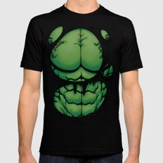 The Green Giant Mens Fitted Tee Black SMALL