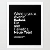 Happy Helvetica Neue Yea… Art Print