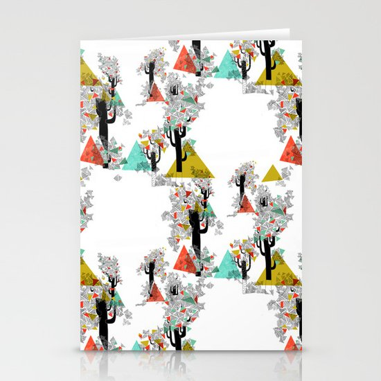 Tree Triangles Stationery Card