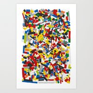 Art Print featuring The Lego Movie by Martin Lucas