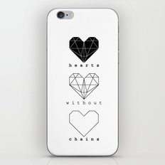 Hearts without chains  iPhone & iPod Skin