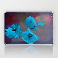 FLOWERS - Poppies blue Laptop & iPad Skin