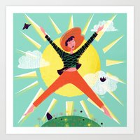 Exuberant! Art Print