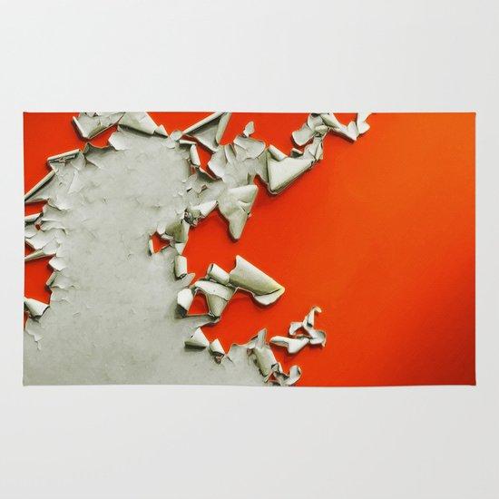 Orange Paper Peel Area & Throw Rug