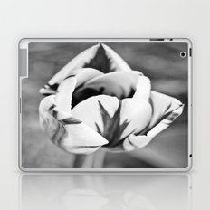 Tulip in Black and White Laptop & iPad Skin