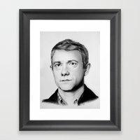 The Blogger Framed Art Print
