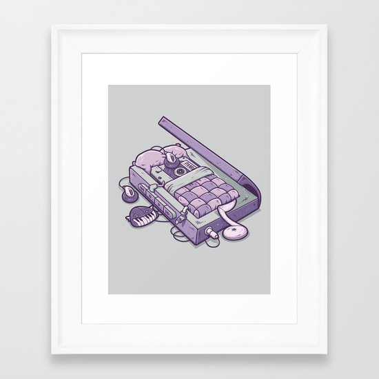 TAPE NAP Framed Art Print