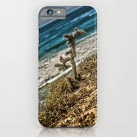 iPhone & iPod Case featuring The Lonely Golden Cactus. by Sarah Zanon