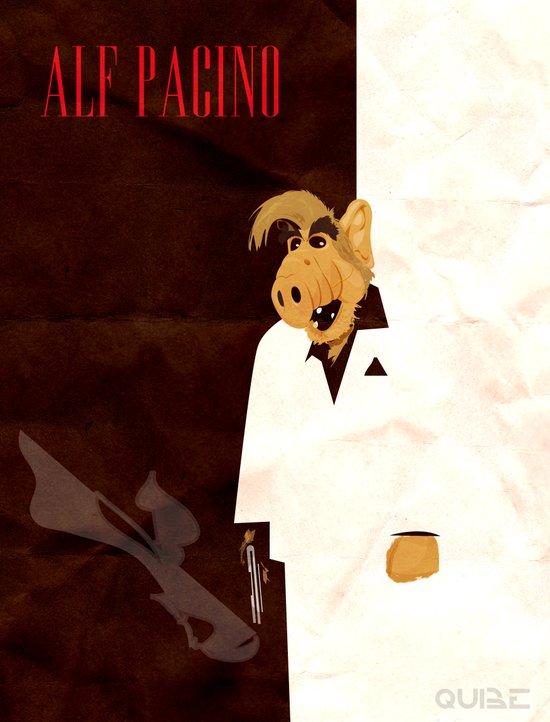 coupling up (accouplés) Alf Pacino Art Print