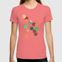 Round Bokeh Womens Fitted Tee Pomegranate SMALL