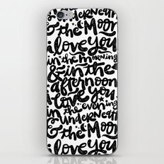 LOVE YOU IN THE MORNING... iPhone & iPod Skin
