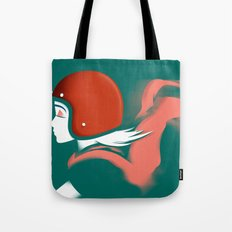 Moped Girl Tote Bag