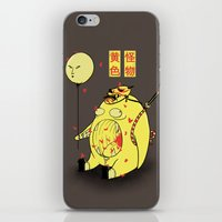 iPhone & iPod Skin featuring My Yellow Monster by pigboom el crapo