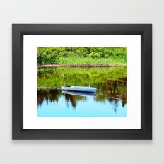 Boat on the Pond Framed Art Print