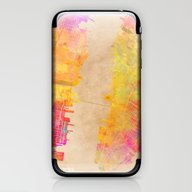 iPhone & iPod Skin featuring New York City Map Colore… by Jbjart