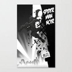 Spiderman Noir Canvas Print