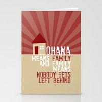 Ohana Means Family - Lilo & Stitch Stationery Cards