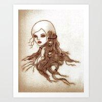 Split-Ends Art Print