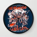 New Wave Laser Cats Wall Clock