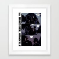The Hound of The Baskervilles Framed Art Print