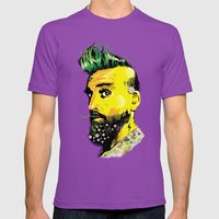GREEN BEARD Mens Fitted Tee Ultraviolet SMALL