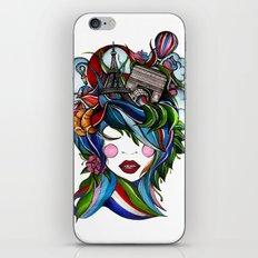 Paris girl iPhone & iPod Skin