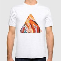 The Vivid Imagination of Nature, Layers of Agate Mens Fitted Tee Ash Grey SMALL