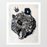 panda Art Prints featuring Panda by Feline Zegers