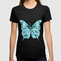 Butterfly Womens Fitted Tee Tri-Black SMALL
