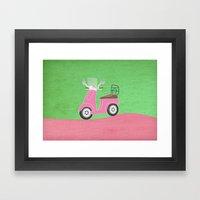 Enjoy The Ride Vespa Framed Art Print