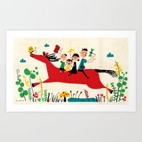 happy horse Art Print
