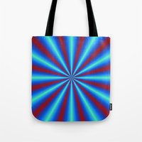 Red And Blue Pleats Tote Bag