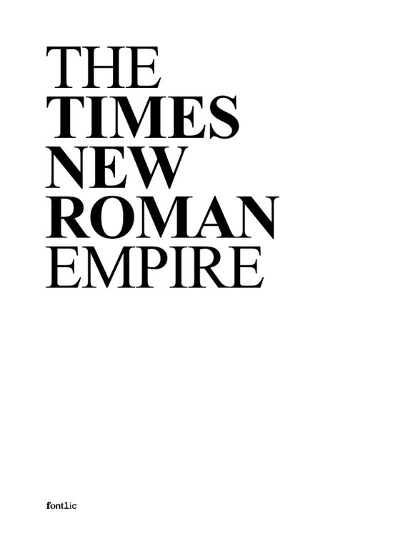 THE TIMES NEW ROMAN EMPIRE Canvas Print
