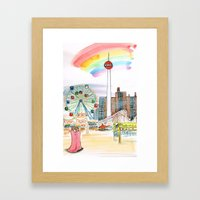 Coney Island, NYC Framed Art Print
