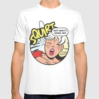 Hey! What's going on? Squirt... Mens Fitted Tee White SMALL