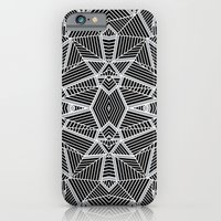 Abstract Lines Black and Silver M iPhone 6 Slim Case