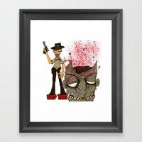 Grimes Pillow Framed Art Print