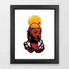 Buddha-octopus Framed Art Print