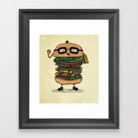 Geek Burger V.2 Framed Art Print