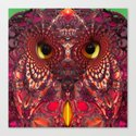 A Faceted Owl Canvas Print