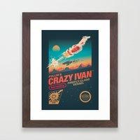 Crazy Ivan Framed Art Print