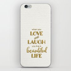 When You - On White  iPhone & iPod Skin