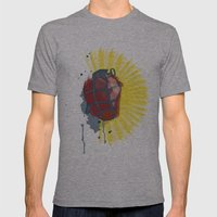 My Heart Goes Boom Mens Fitted Tee Athletic Grey SMALL