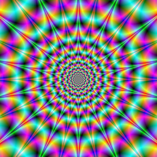 Psychedelic Colour Explosion Art Print
