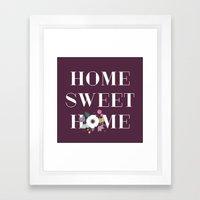 Floral Home Sweet Home -… Framed Art Print