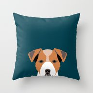 Bailey - Jack Russell Te… Throw Pillow