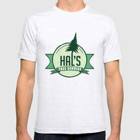 Hal's Tree Service Mens Fitted Tee Ash Grey SMALL