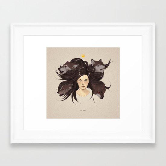 Los Lobos.  Framed Art Print